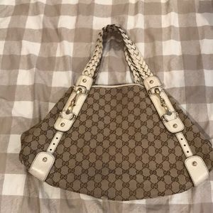 Authentic Gucci Hobo Bag with Braided Straps